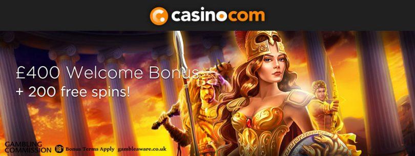 Online Casino Canada - Join casino.com and get a up to $400 Bonus!