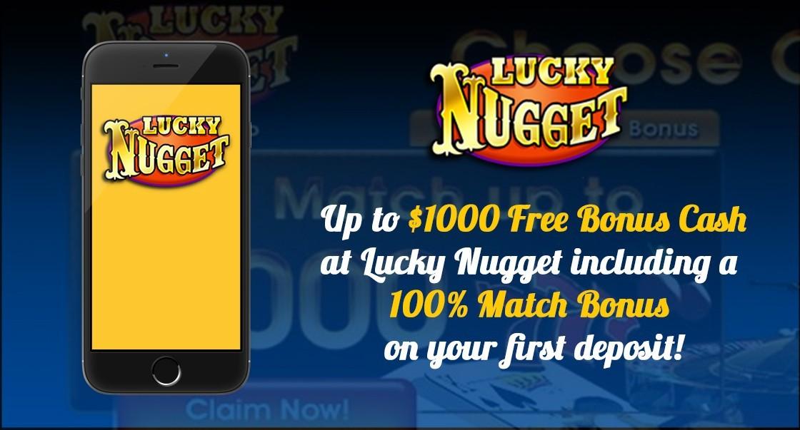Lucky Nugget Casino Review - $1,000 Deposit Bonus