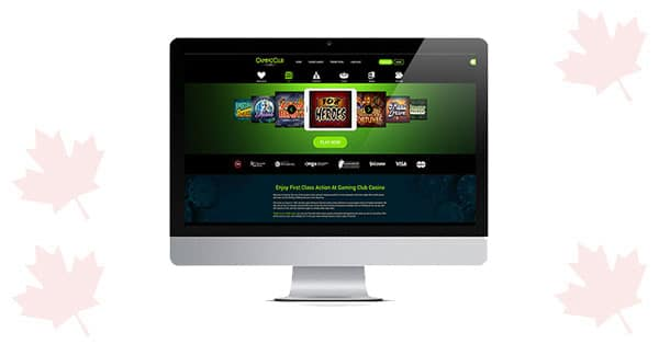 Gaming Club Casino on desktop