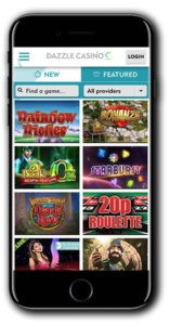 Dazzle Casino mobile play