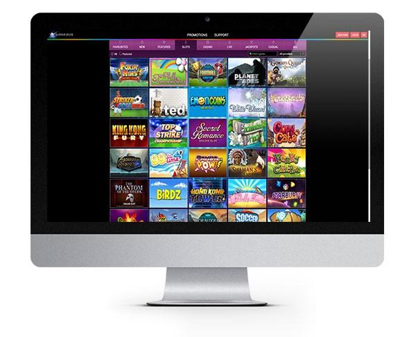 Glimmer Casino desktop screenshot