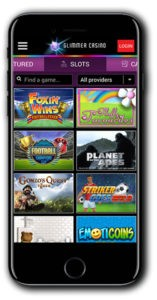 Glimmer Casino mobile screenshot