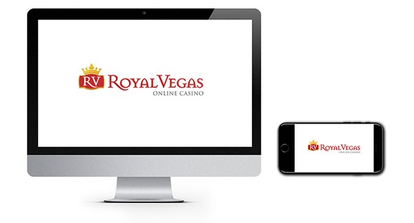 Royal vegas logo on screen