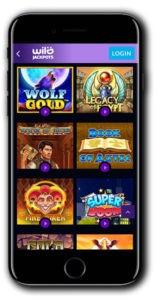Wild Jackpots Casino mobile