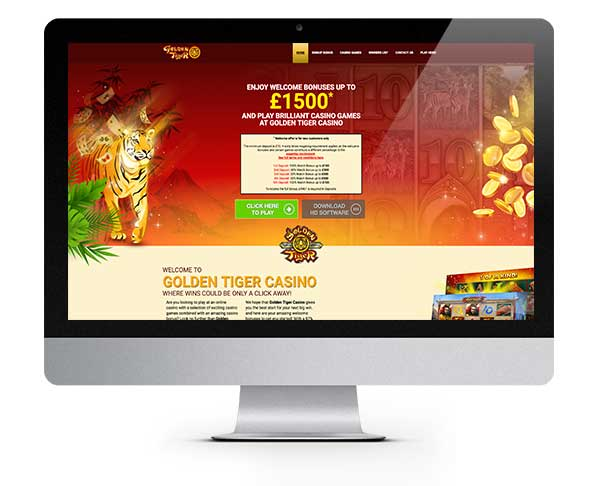 Golden Tiger Casino 100% Match Bonus