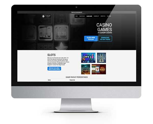 Luxury Casino welcome bonus package
