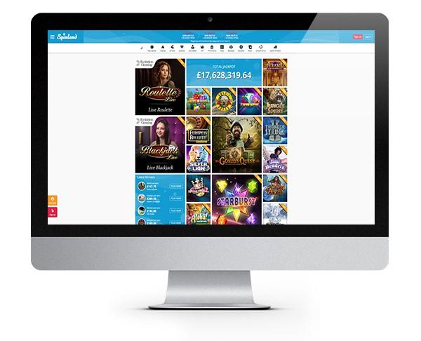 Spinland Casino desktop
