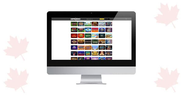 Hippozino Casino desktop screen