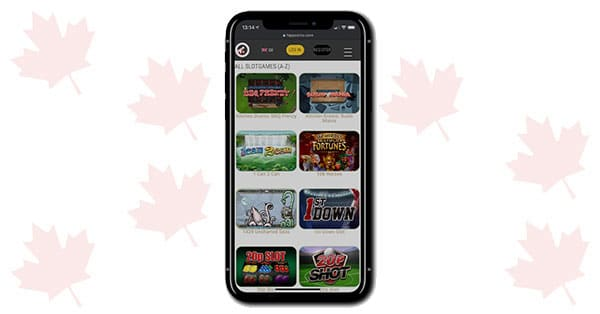 Hippozino Casino mobile screen