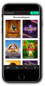 Dunder Casino smart phone