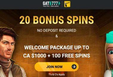 gate777 bonus offer