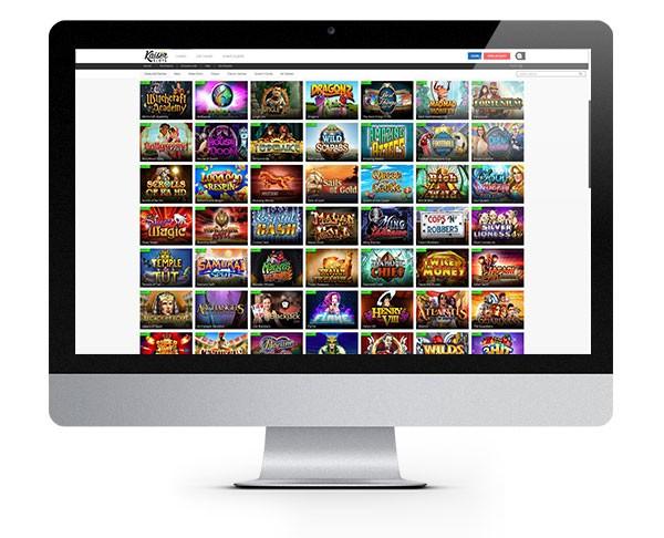 Kaiser Slots desktop lobby