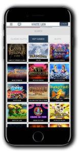 White Lion Casino mobile