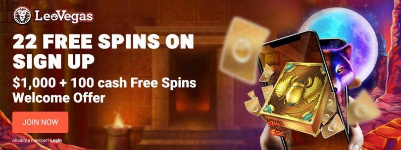 leo vegas 22 free spins