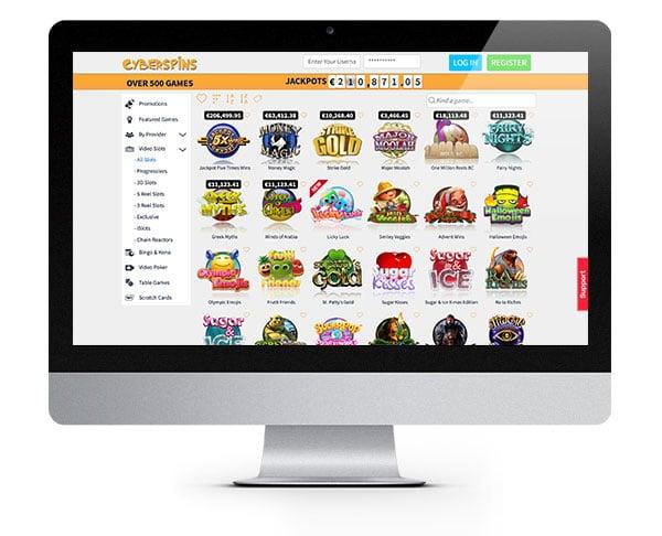 CyberSpins Casino desktop