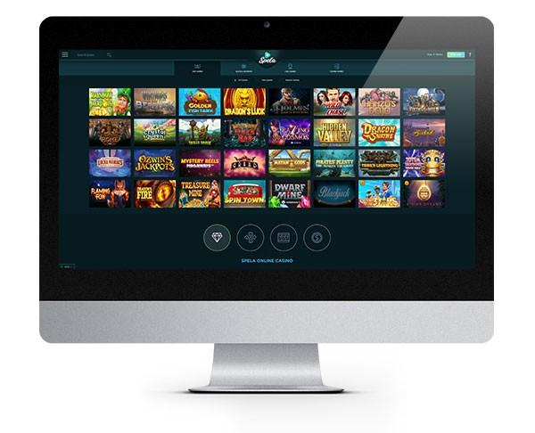 Spela Casino desktop lobby games