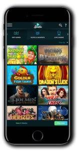 Spela Casino mobile games lobby