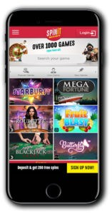 Spinit Casino mobile lobby