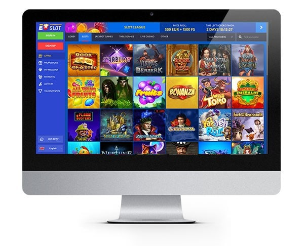 EUSlot desktop casino lobby