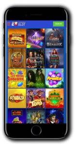 EUSlot mobile casino lobby