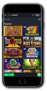 Joo Casino Mobile Lobby