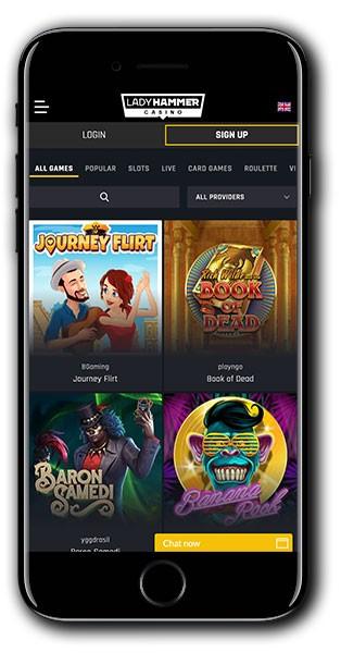 LadyHammer Casino Mobile