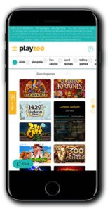Playzee Casino Mobile Lobby