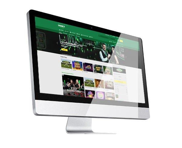 Unibet Casino Desktop Lobby