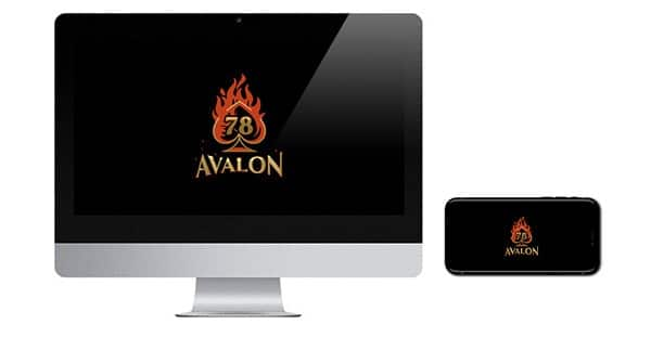 Avalon78 Casino Logos on screen