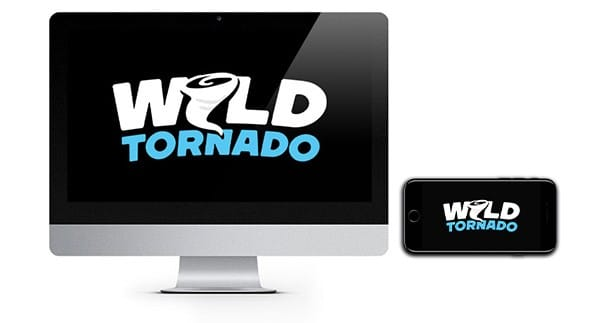 Wild Tornado Casino Logo on screen