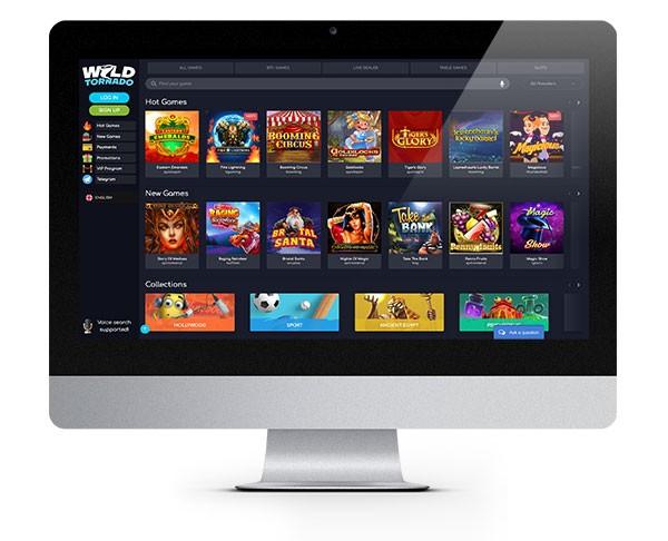 Wild Tornado Casino Desktop Lobby