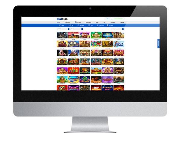 Slottica Casino desktop screenshot