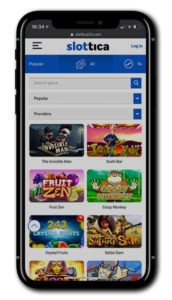 Slottica Casino Mobile Mainkan