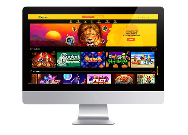 Spinamba Casino desktop screenshot