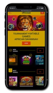 Spinamba Casino mobile screenshot