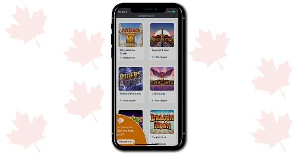 Flipperflip Casino Mobile Screenshot