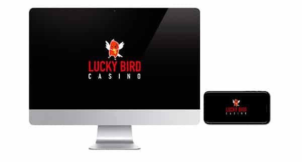 Lucky Bird Casino logo on screen