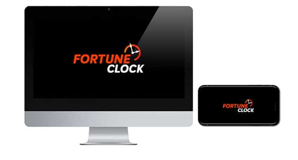 Fortune Clock Casino Logo on screen