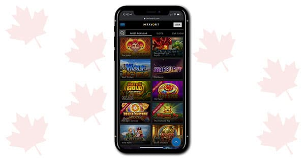 MrFavorit Casino Mobile