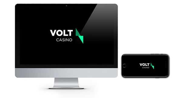 Volt Casino logo on screen