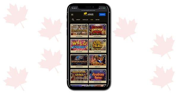 Argo Casino on mobile