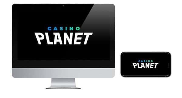 Casino Planet Logo on screen