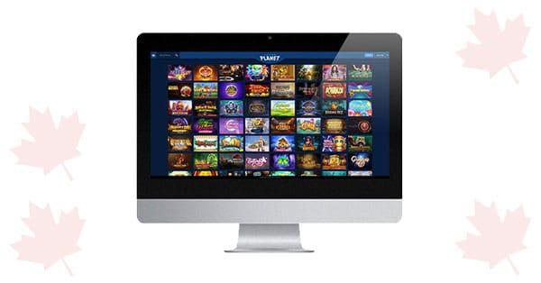 Casino Planet desktop lobby