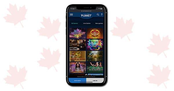 Casino Planet Mobile games