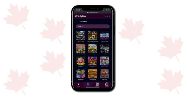Kahuna Casino on mobile phone