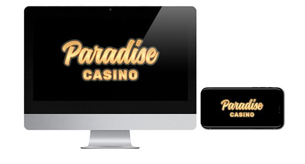 Paradise Casino Logo on Screen