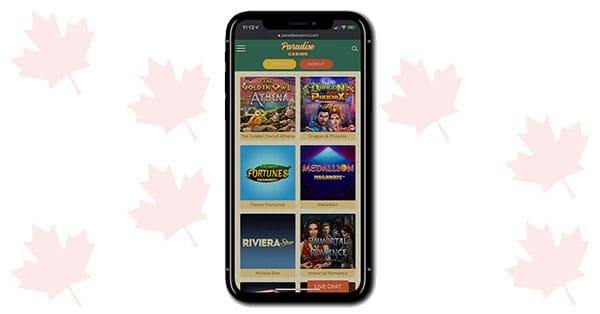 Paradise Casino on Mobile