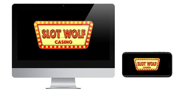 Slot Wolf Casino Logo on screen