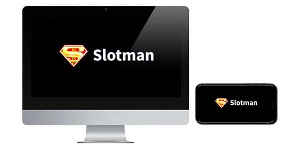 Slotman Casino logos on screen