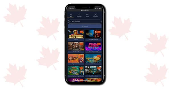 Slotman Casino on mobile